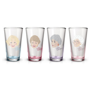 The Golden Girls Cast Pint Glasses (Set of 4)