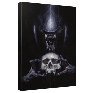 Alien Skull Canvas Wall Art