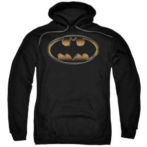 Batman Logo Embossed Pullover Hoodie