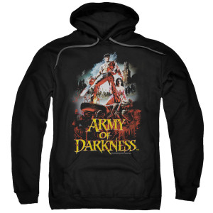 Army Of Darkness Bloody Poster Pullover Hoodie