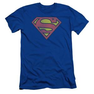 Superman Retro Logo T-Shirt (Royal Blue)
