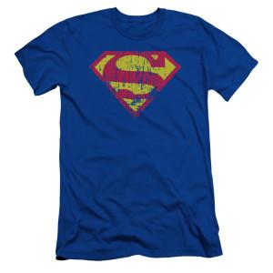Superman Logo Distressed T-Shirt