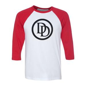 Marvel's Daredevil Emblem Raglan (White/Red)