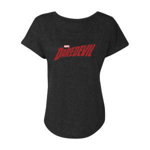Marvel's Daredevil Distressed Logo Dolman (Vintage Black)