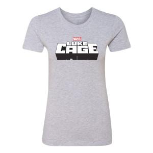 Marvel's Luke Cage Logo Women's T-Shirt (Heather Grey)