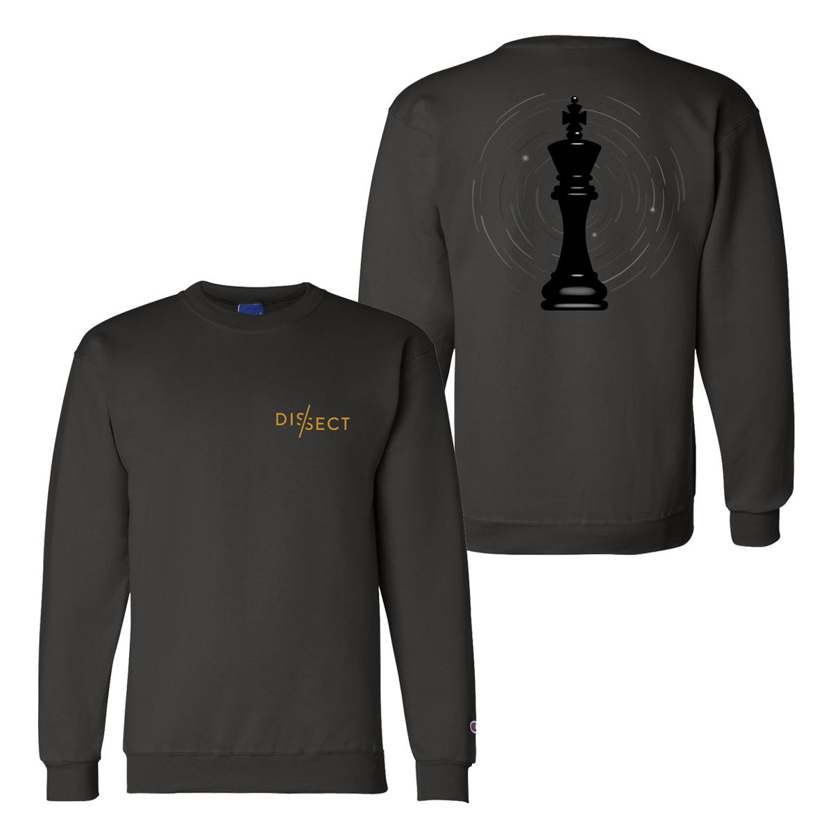 "Embroidered Black ""King"" Sweatshirt"