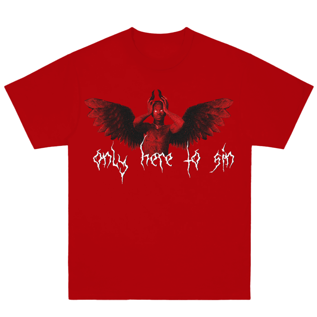 Only Here to Sin Red T-Shirt