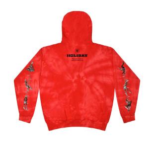 HOLIDAY Red Tie-Dye Hoodie