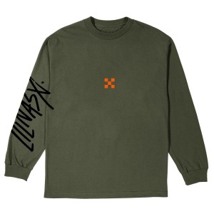 Sad Cowboy Green Long-Sleeve Tee