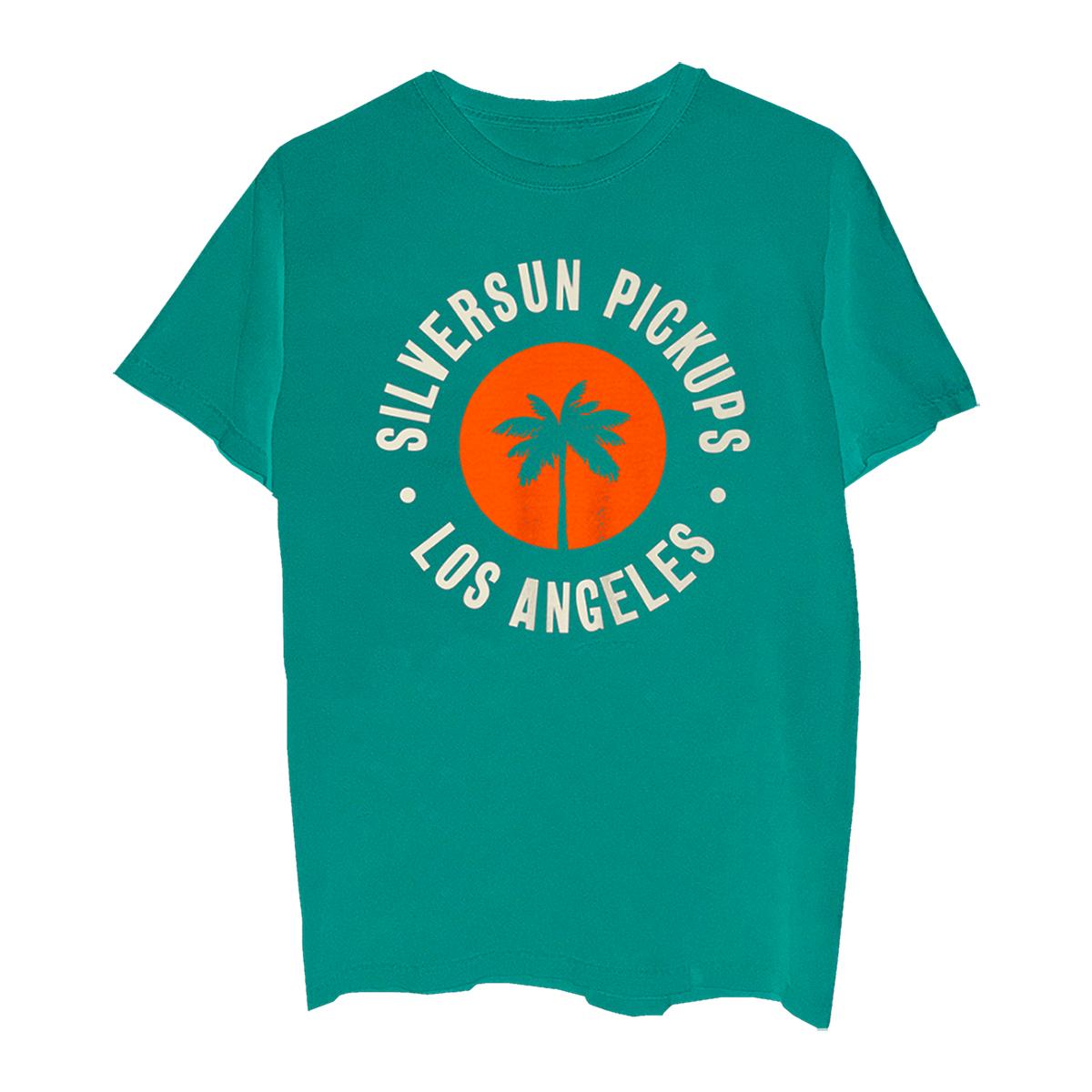 LA Palm Tree Teal T-shirt