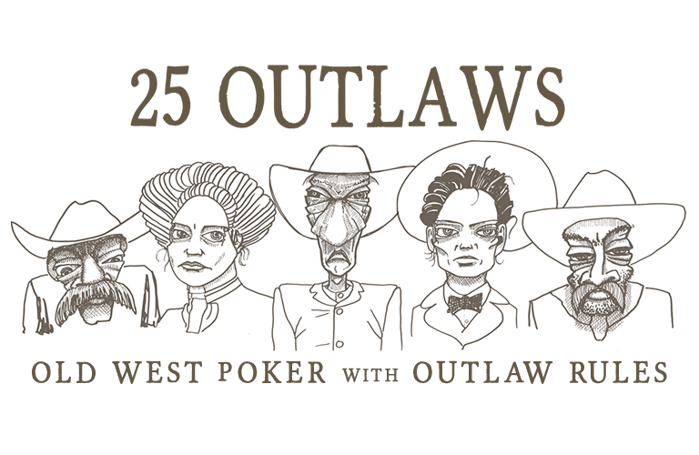 25 Outlaws - Old West Poker