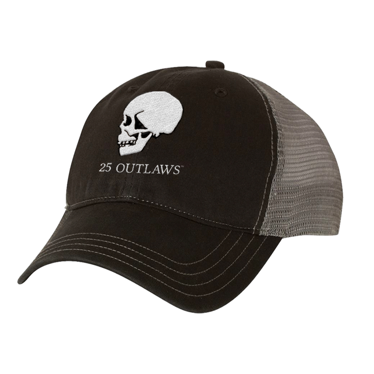 25 Outlaws Skulls Trucker Hat
