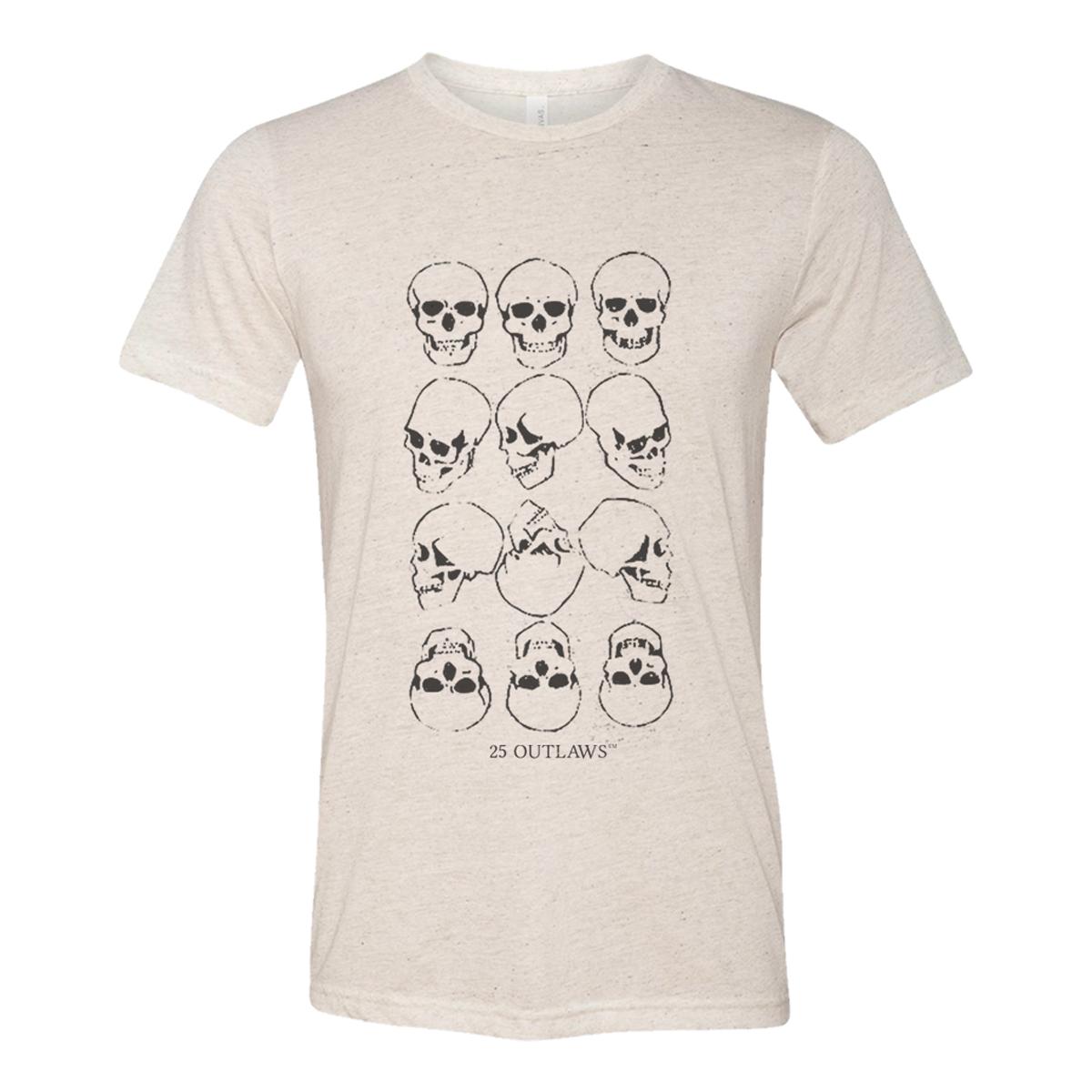 25 Outlaws Skulls T-Shirt