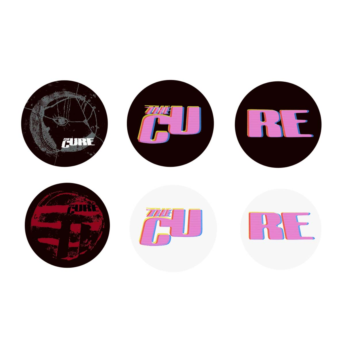 The Cure Summer 2019 Badge Set