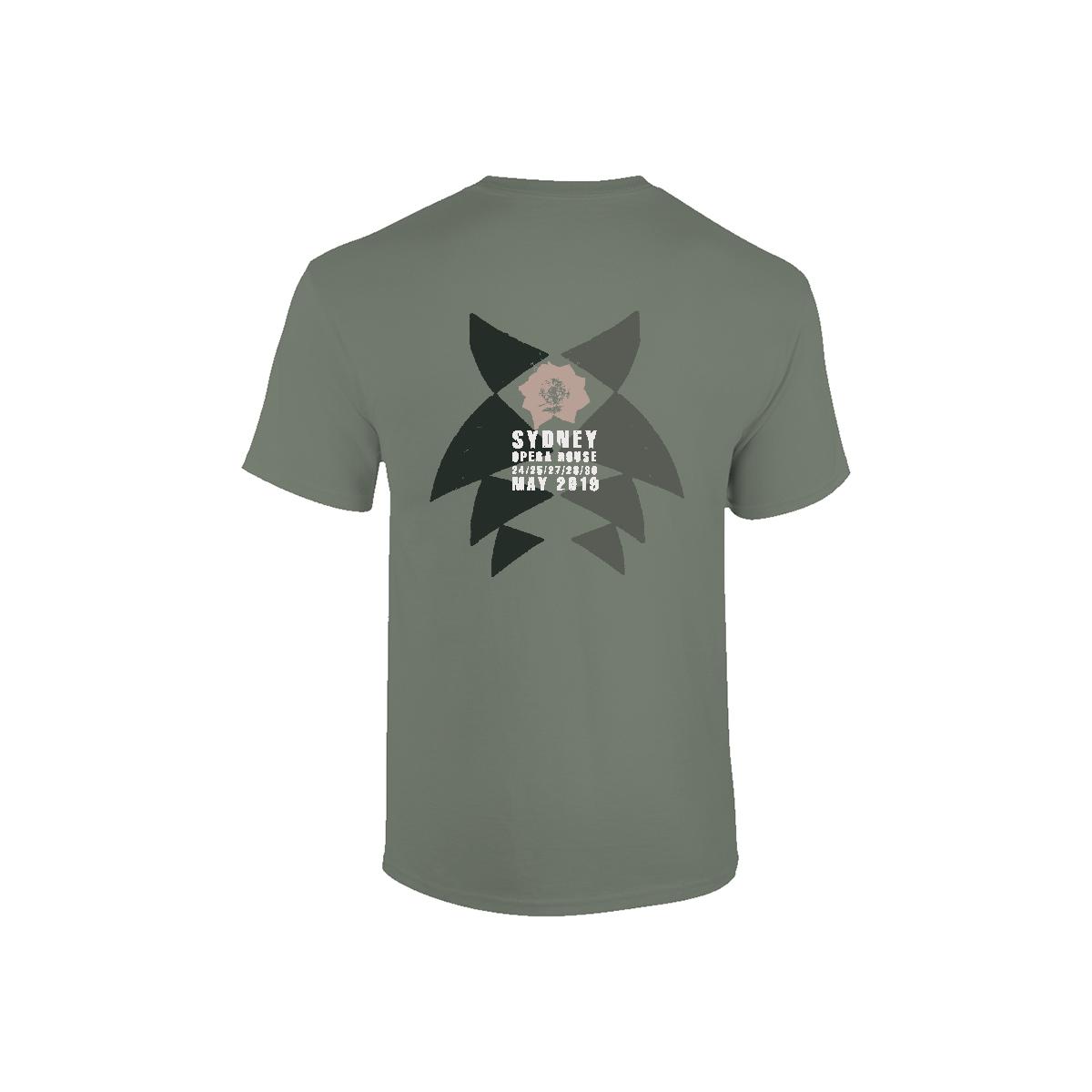 Robert Khaki Crew Neck T-shirt