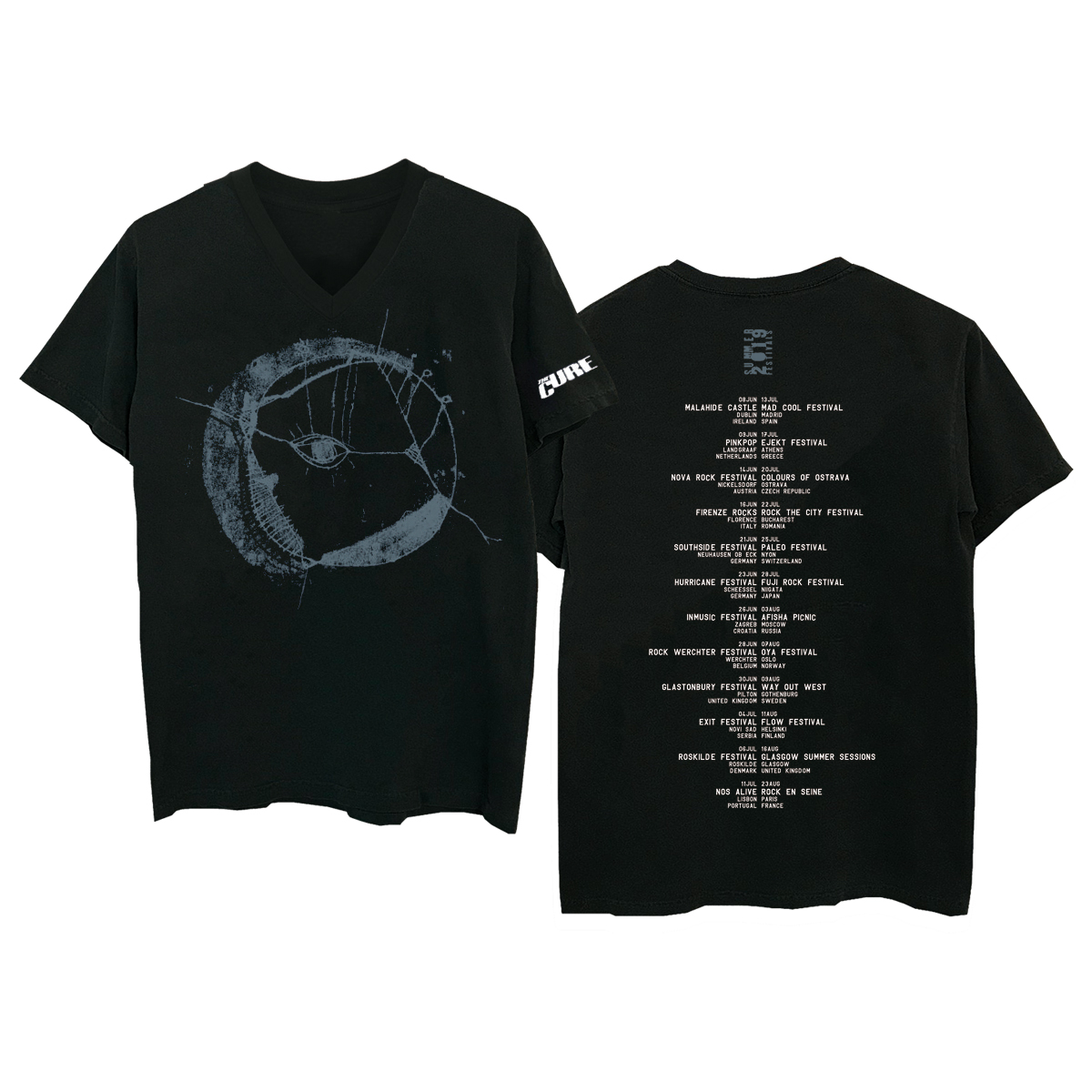 Eyemoon Black V-Neck T-Shirt