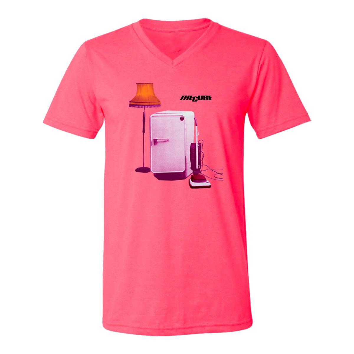 TIB Album Cover Pink V-neck T-shirt