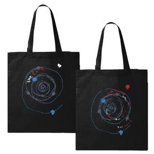 Austin Black Spiral Tote Bag