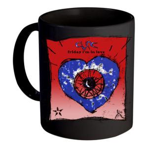 Friday I'm in Love Black Mug