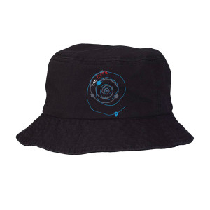 Austin Black Spiral Bucket Hat