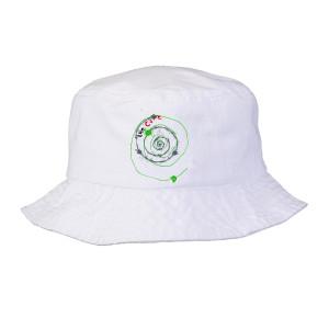 Mexico City White Spiral Bucket Hat