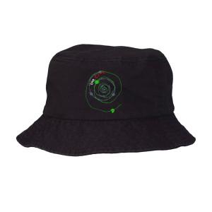 Mexico City Black Spiral Bucket Hat