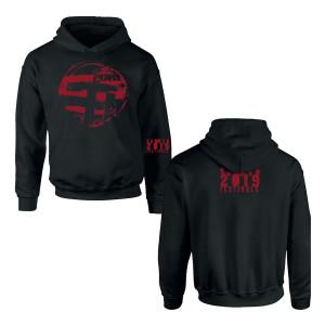 Eastern Red Logo Black Hoodie