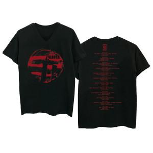 Eastern Red Logo Black V-Neck T-Shirt