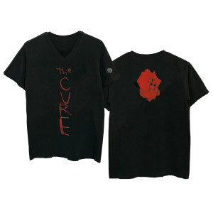 Bloodflowers Black V-Neck T-shirt