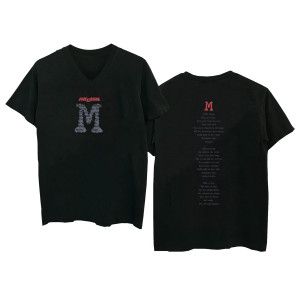 M Black V-NECK T-shirt