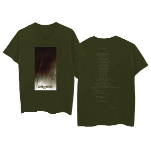 A Forest Green V-Neck T-Shirt