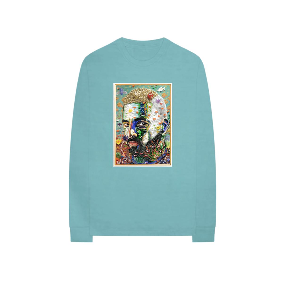 #7DJ Camiseta Retrato Mento con Mangas Largas