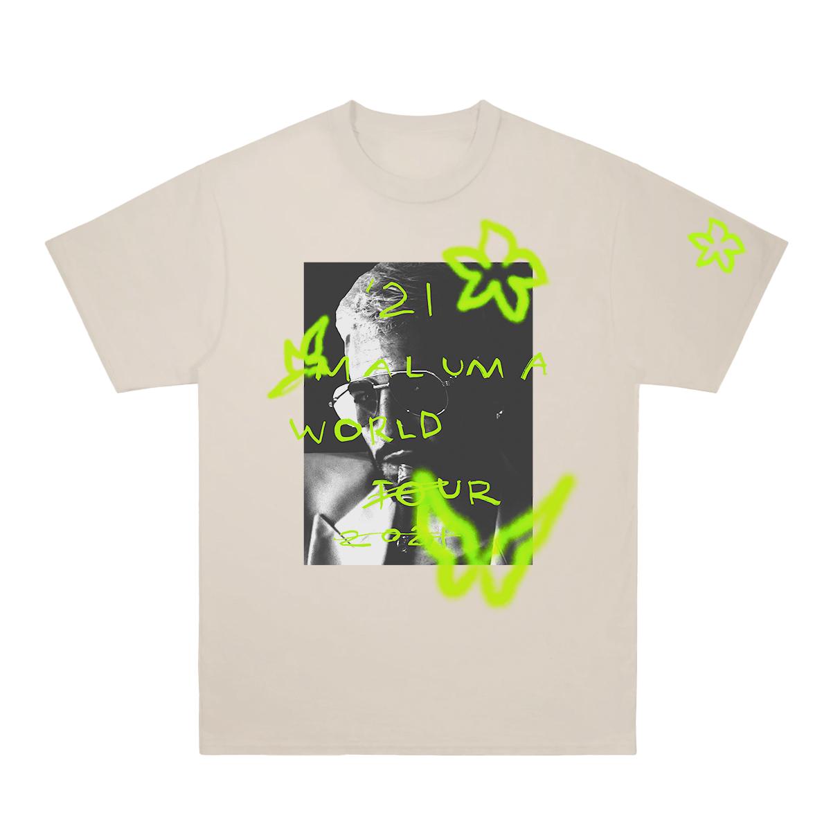Camiseta Maluma World Tour - Natural