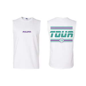 Camiseta sin mangas unisex Maluma Gira 21 - Blanca