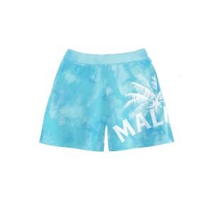 Shorts Teñidos en Azul Cielo