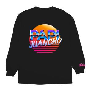 Papi Juancho Camiseta Negra Con Mangas Largas