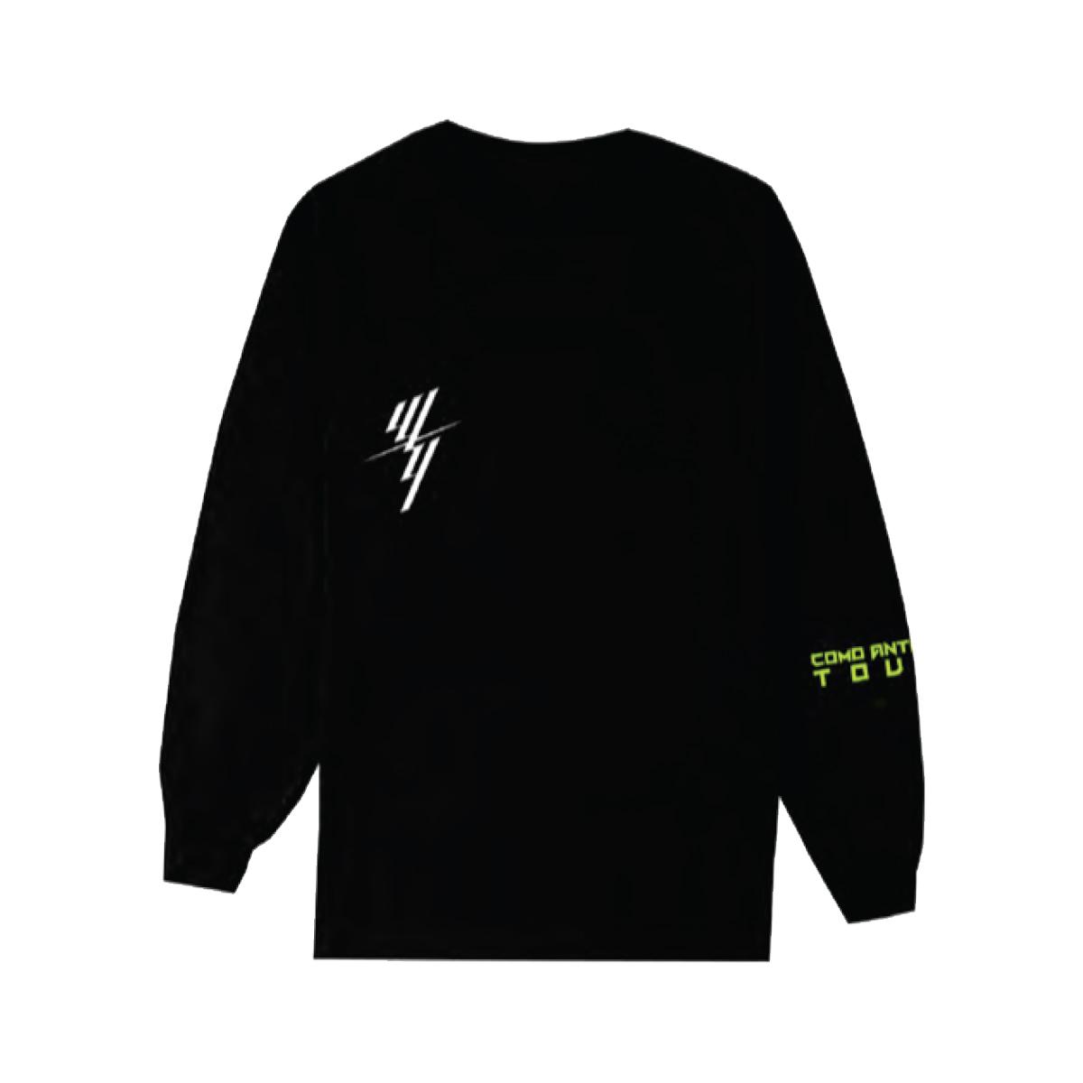 W&Y STACKED BLACK LONG SLEEVE TEE