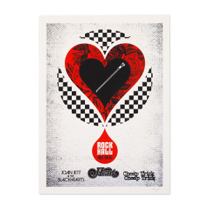Rock Hall Three For All Poster Signed and Numbered by Poster Artist