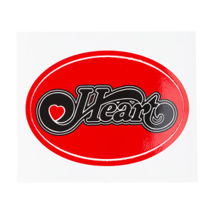 Black on Red Heart Logo Sticker