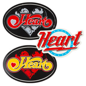 Set of 3 Heart Stickers