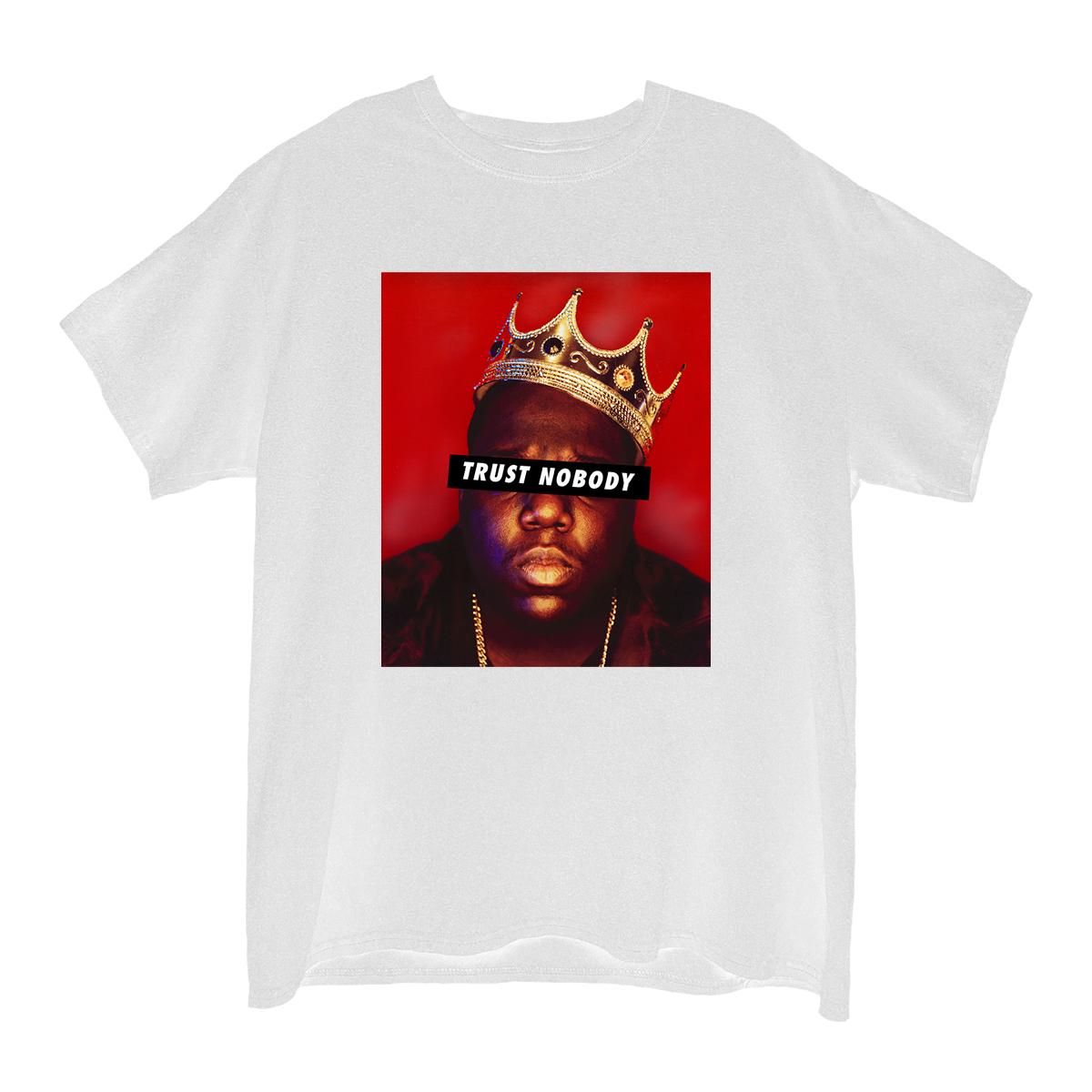Trust Nobody White Junior's Boyfriend T-Shirt