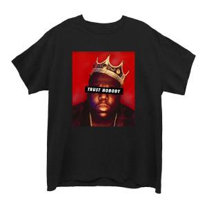 Trust Nobody Black Junior's Boyfriend T-Shirt