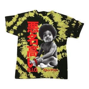 Biggie Baby Kanji Tie-Dyed T-shirt