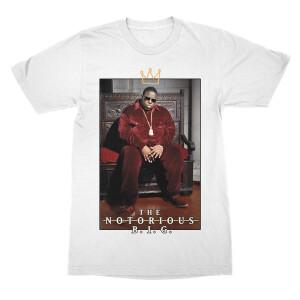 Biggie Crown Throne White T-Shirt