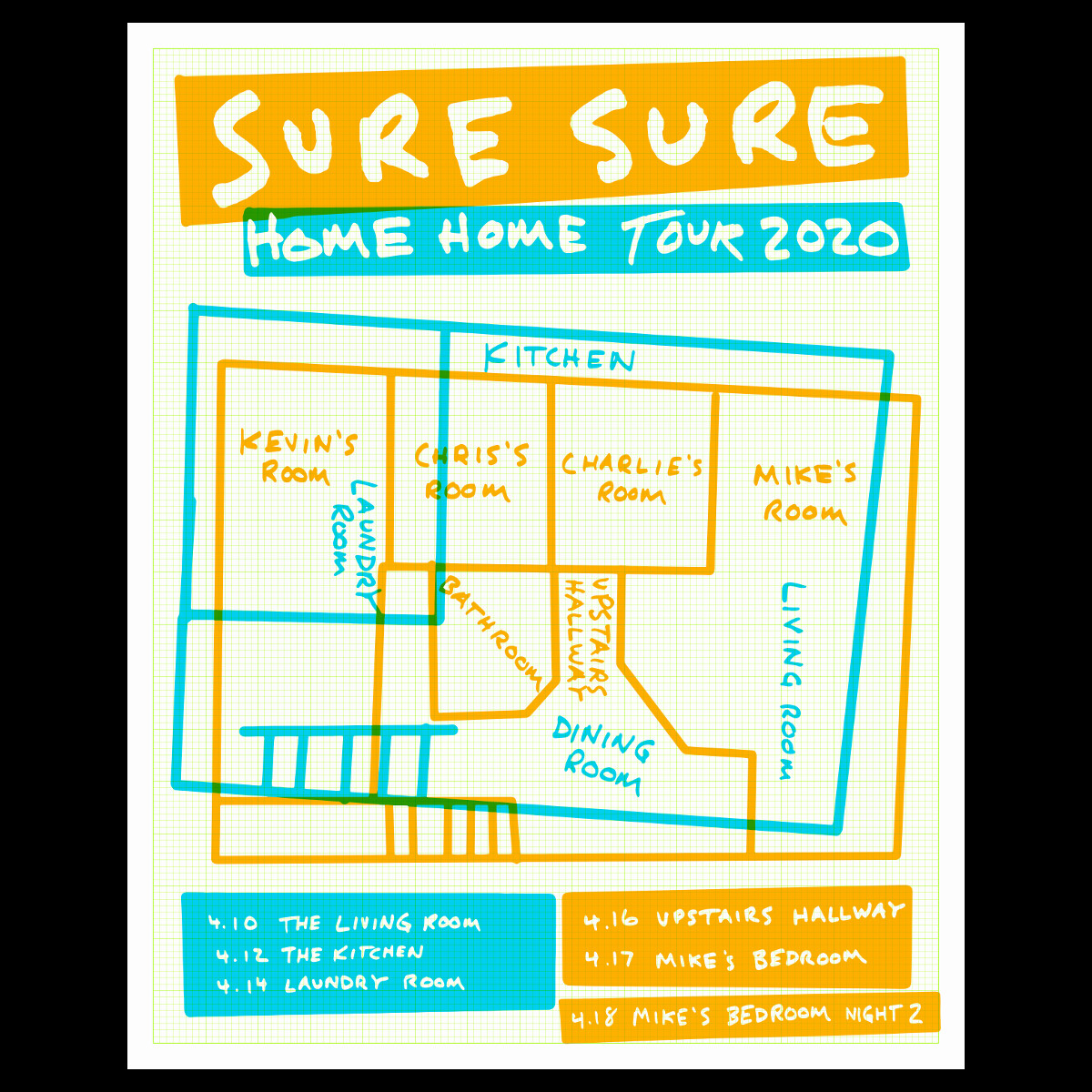 Autographed Home Home Tour Poster