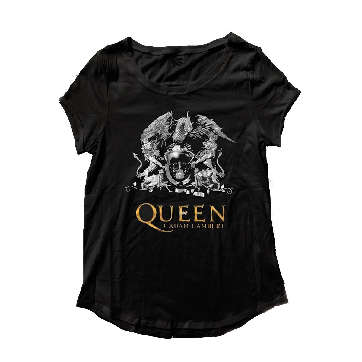 Queen + Adam Lambert Crest Ladies T-Shirt