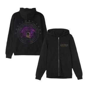 Queen + Adam Lambert Vintage Logo 2020 Dateback Zip Hoodie