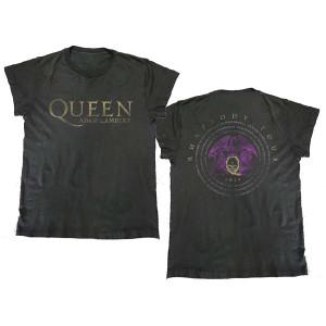 Queen + Adam Lambert Vintage Logo T-Shirt