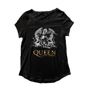 Queen + Adam Lambert Crest Ladies T-Shirt