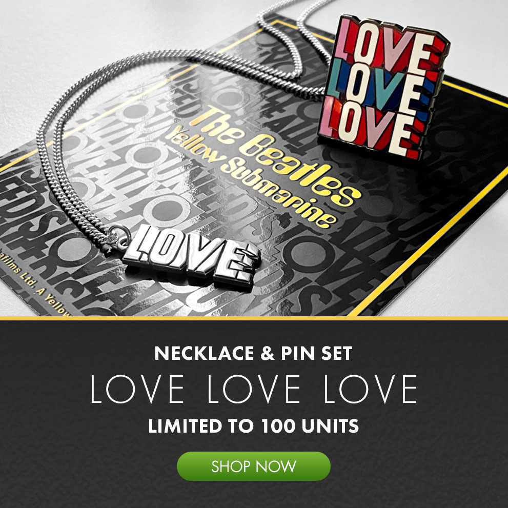 Limited Edition Love Love Love Necklace and Pin Set!